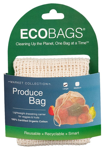 ECOBAGS® Market Collection  Organic Net Drawstring Bag - Large