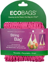 ECOBAGS Market Collection String Bag - Long Handle. 14 colors available (Fuchsia shown)