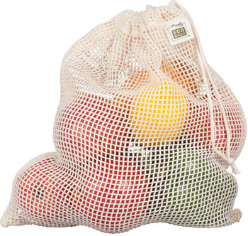 Organic Net Drawstring Produce Bag - Small