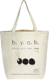 Bugged Out Ant Canvas Tote
