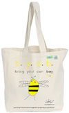 Bugged Out Bumblebee Canvas Tote Bag