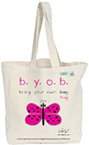 Bugged Out Butterfly Canvas Tote Bag