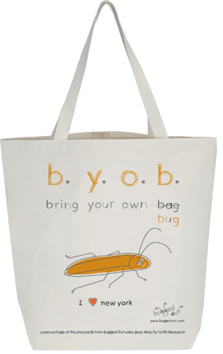 Bugged Out Cockroach Canvas Tote