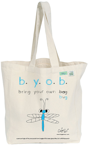Bugged Out Dragonfly Canvas Tote Bag