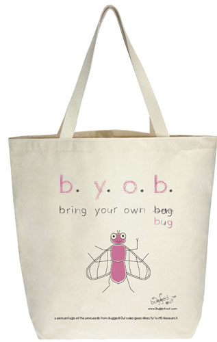Bugged Out Fly Canvas Tote