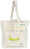 Bugged Out Grasshopper Canvas Tote Bag