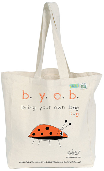 Bugged Out Ladybug Canvas Tote Bag