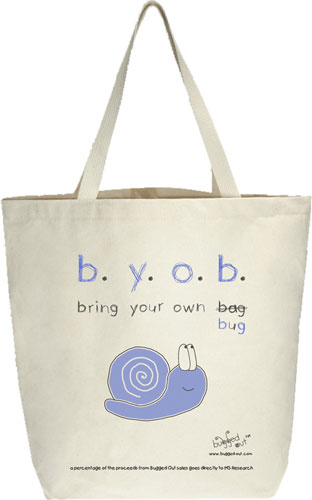 Bugged Out Snail Canvas Tote