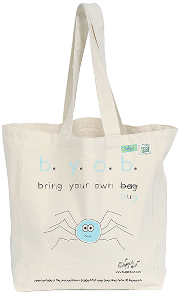 Bugged Out Spider Canvas Tote Bag