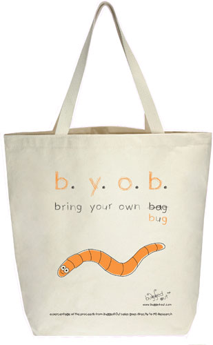 Bugged Out Worm Canvas Tote