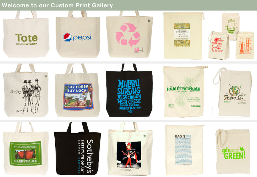 Image of 15 Custom Printed Canvas bags