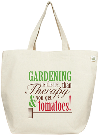 ECOBAGS Recycled Cotton Garden Tote Bag