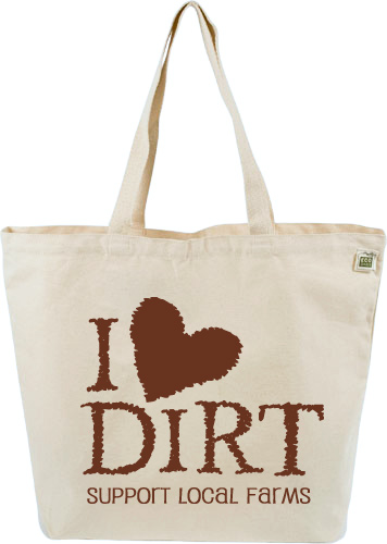 "ECOBAGS DESIGNS ""I Love Dirt"" Canvas Tote Bag"