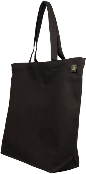 ECOBAGS Canvas Tote Bag Natural Cotton Black Reusable Shopping bag ...