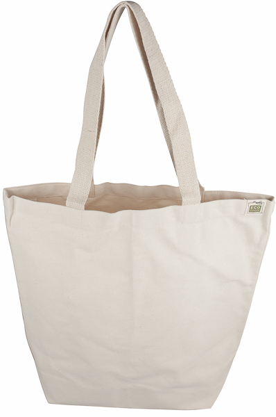 BLANK RECYCLED COTTON CANVAS REUSABLE TOTE