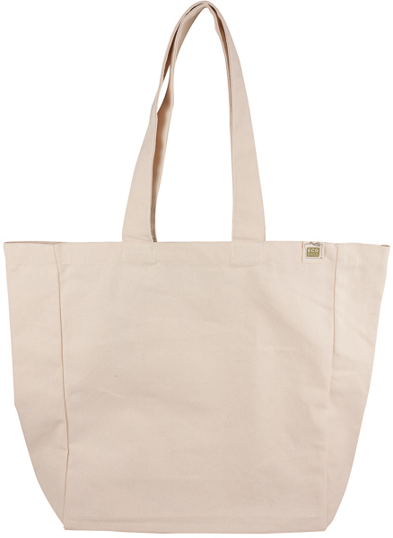 ECOBAGS Recycled Cotton Reusable Shopping Bag with Pocket - ECOBAGS.com 56bb36e41