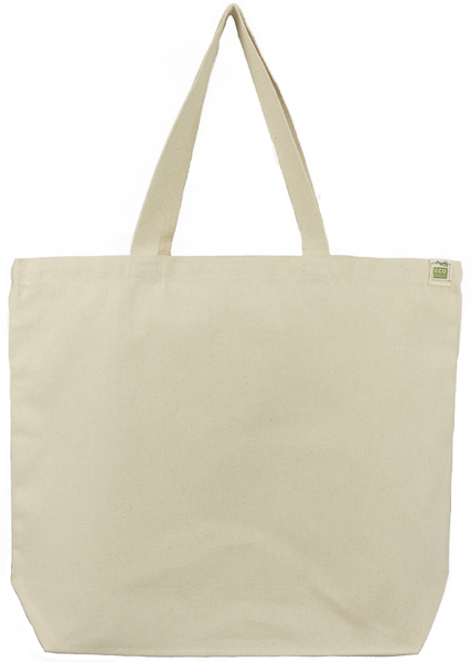 6fc91fccb Natural Canvas Tote Bag Custom Screen Printed - ECOBAGS.com