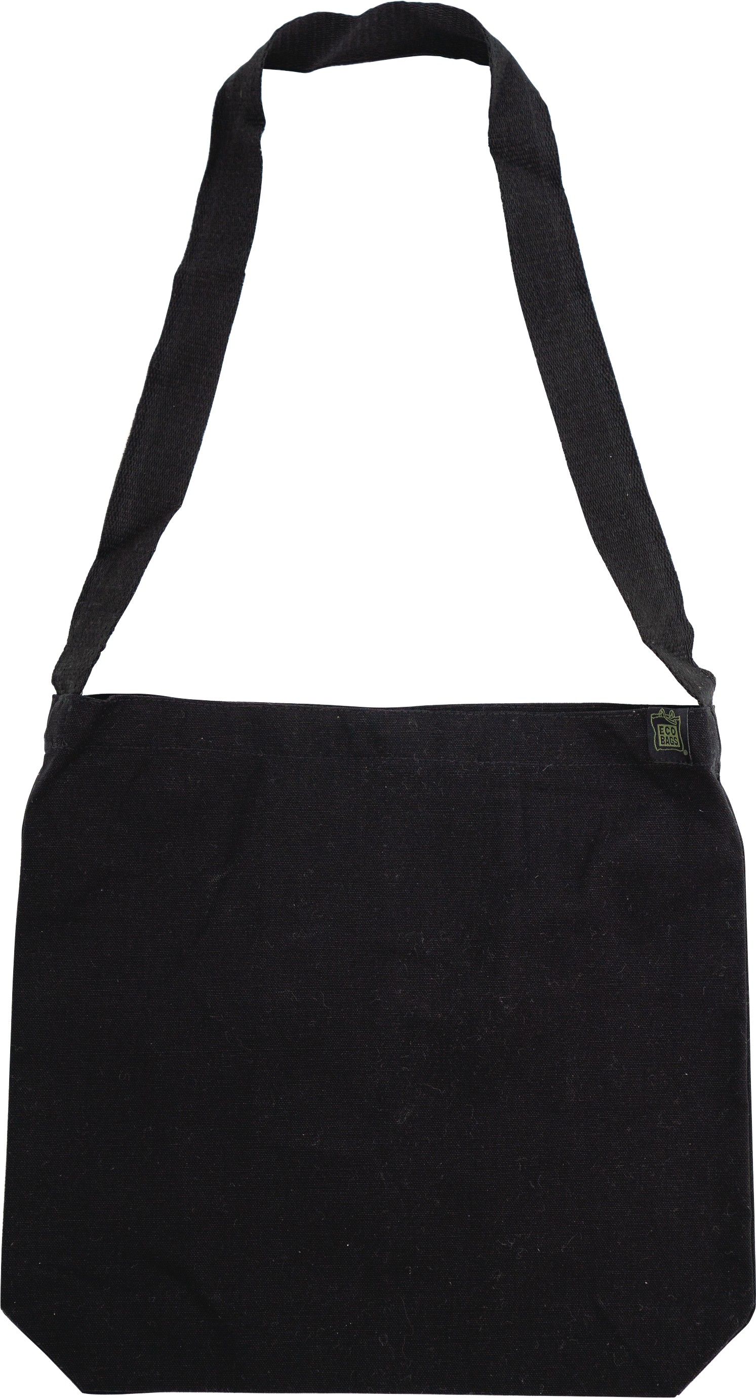 ECOBAGS® Recycled Cotton Crossbody Bag in Black