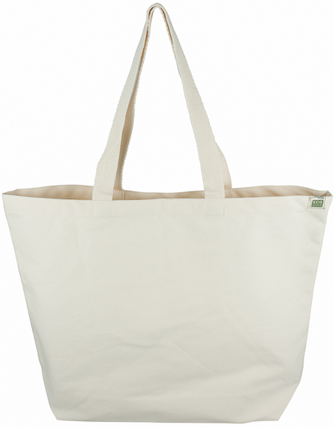 ECOBAGS Canvas Tote Bag - Natural Cotton Reusable Shopping Bag ...