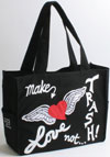 Make Love Not Trash Black Flyaway Tote