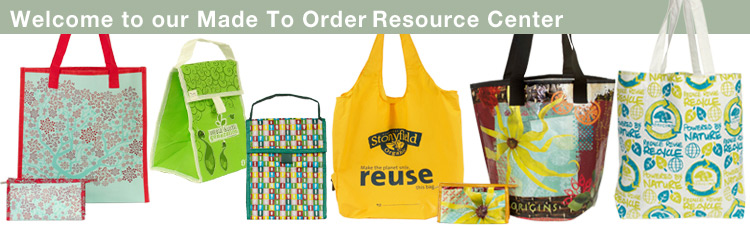 Custom manufactured bags by ECOBAGS MadeToOrder