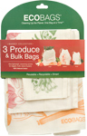 ECOBAGS Reusable Printed Produce Bag Set of 3