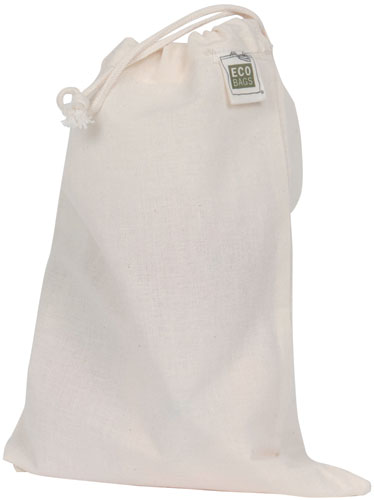 ECOBAGS Reusable Produce Bags Natural Cotton Half Size