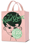 Rebel Green Bubble Girl Shopping Tote