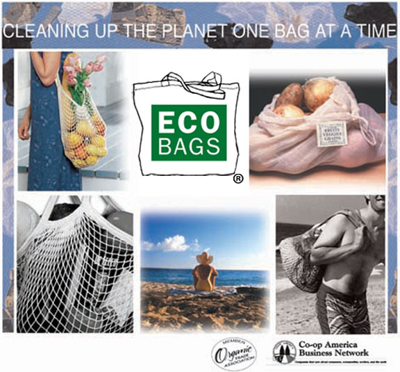 ECOBAGS® Canvas tote bags, classic string ECOBAGS, beach bags, Ecoweave organic towels and more.