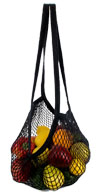 ECOBAGS Black Organic Long Cotton String Bag