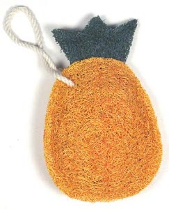 Loofah Art Kitchen Scrubber Pineapple Ecobags Com