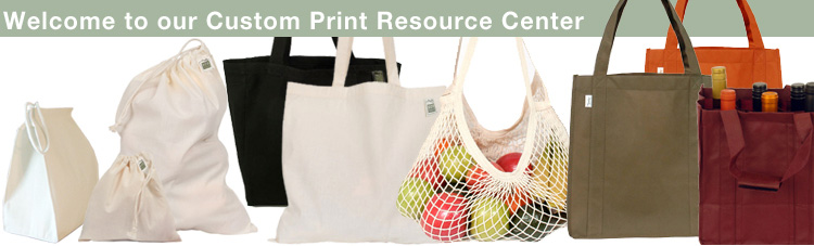 Picture of custom printed bags
