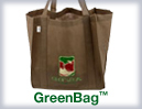 Green Bag tote Bags